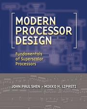 Cover of: Modern Processor Design by John P. Shen
