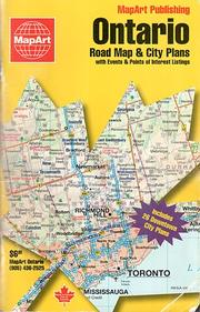 Ontario road map city plan guide Open Library