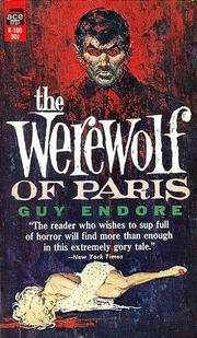 Cover of: The Werewolf of Paris | Guy Endore