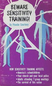 Beware Sensitivity Training   Open Library