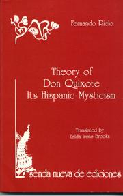 Cover of: Theory of Don Quixote | Fernando Rielo