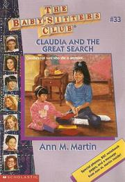 Cover of: Claudia and the Great Search by Ann M. Martin