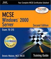 Cover of: MCSE/MCSA Training Guide, Second Edition (70-215) by Dennis Maione