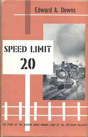 Cover of: Speed limit 20 | Edward A. Downs