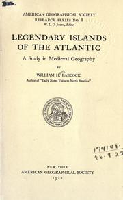 Cover of: Legendary islands of the Atlantic by William Henry Babcock