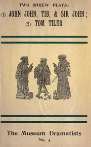 "Cover of: Two Tudor ""shrew"" plays 