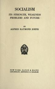Cover of: Socialism | Alfred Raymond Johns