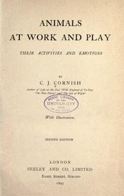 Cover of: Animals at work and play | C. J. Cornish