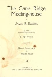 Cover of: The Cane Ridge Meeting-House | James R. Rogers