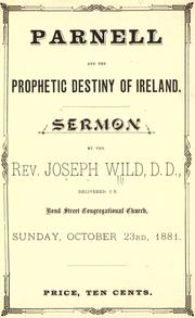 Cover of: Seven sermons delivered by Rev. Joseph Wild, D.D., in Bond Street Congregational Church, Toronto, Ont | Wild, Joseph