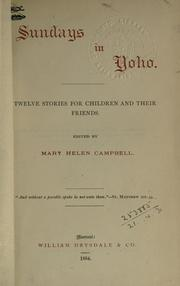 Cover of: Sundays in Yoho | Mary Helen Campbell