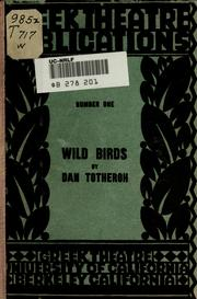 Cover of: Wild birds | Dan Totheroh