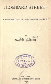 Cover of: Lombard Street by Walter Bagehot