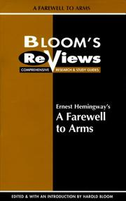 Cover of: Ernest Hemingway's a Farewell to Arms | Harold Bloom