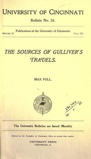 Cover of: The sources of Gulliver's travels | Max Poll