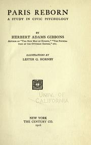 Cover of: Paris reborn | Gibbons, Herbert Adams