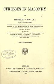 Cover of: Stresses in masonry | Herbert Chatley