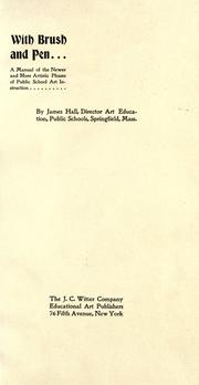 Cover of: With brush and pen | Hall, James