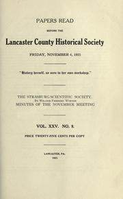 Cover of: The Strasburg Scientific Society by William Frederic Worner