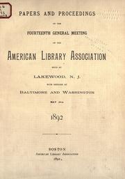 Cover of: Proceedings by American Library Association