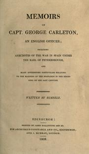 Cover of: Memoirs of Capt. George Carleton, an English officer | Carleton, George