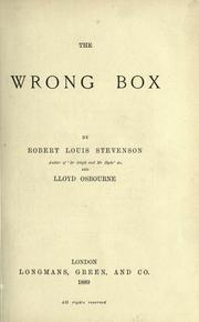 Cover of: The  wrong box by Robert Louis Stevenson