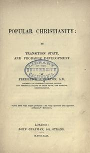 Cover of: Popular Christianity | Frederick J. Foxton
