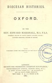 Cover of: Oxford | Marshall, Edward