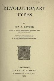 Cover of: Revolutionary types by Taylor, Ida A.