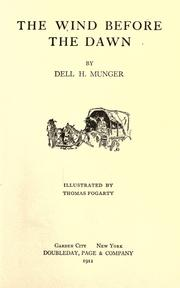 Cover of: The wind before the dawn | Dell H. Munger