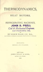 Cover of: Thermodynamics, heat motors, and refrigerating machines | Wood, De Volson