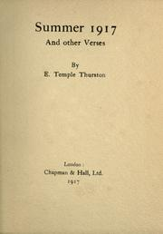 Cover of: Summer 1917 | Ernest Temple Thurston