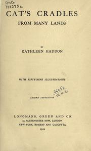 Cover of: Cat's cradles from many lands | Kathleen Haddon
