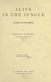 Cover of: Alive in the jungle | Eleanor Stredder