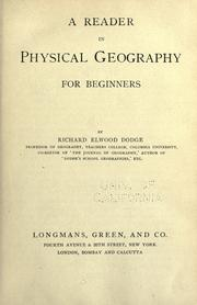 Cover of: A reader in physical geography by Dodge, Richard Elwood