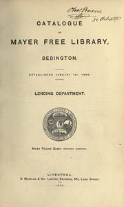 Cover of: Catalogue of Mayer Free Library, Bebington | Mayer Free Library.