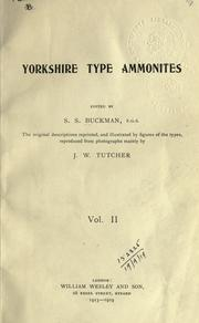 Cover of: Yorkshire type ammonites by Sydney Savory Buckman
