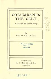 Cover of: Columbanus, The Celt | Walter T. Leahy