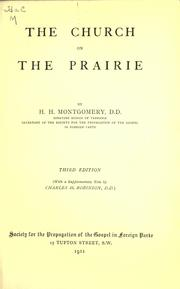 Cover of: The Church on the prairie | H. H. Montgomery