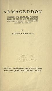 Cover of: Armageddon by Phillips, Stephen