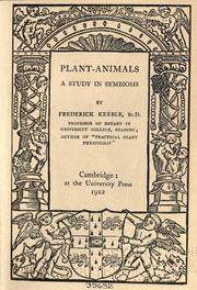 Cover of: Plant-animals | Keeble, Frederick Sir