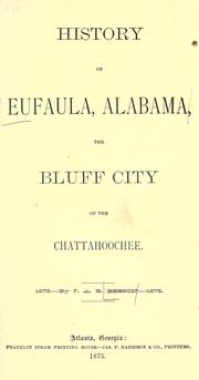 Cover of: History of Eufaula, Alabama by J. A. B. Besson