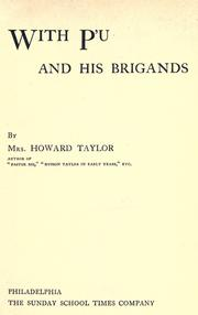 Cover of: With P'u and his brigands by Mary Geraldine Guinness Taylor