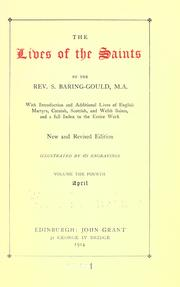 Cover of: The lives of the saints by Sabine Baring-Gould