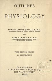 Cover of: Outlines of physiology | Edward Groves Jones