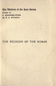 Cover of: The religion of the Koran | Arthur N. Wollaston