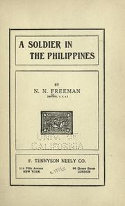Cover of: A soldier in the Philippines by Needom N. Freeman