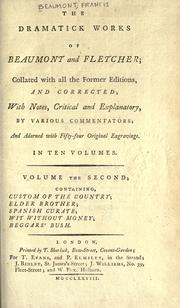 Cover of: Plays by Francis Beaumont