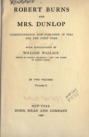 Cover of: Robert Burns and Mrs. Dunlop | Robert Burns