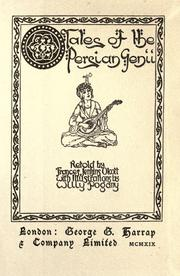 Cover of: Tales of the Persian genii by Francis Jenkins Olcott